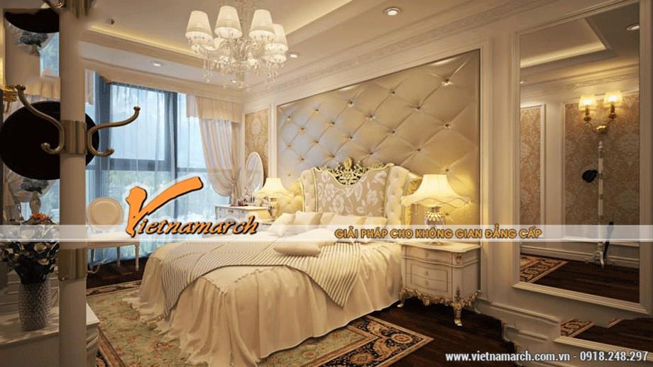 Trần thạch cao cổ điển cho phòng ngủ quyến rũ