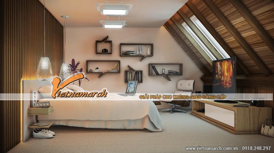 Mẫu trần thạch cao cho phòng ngủ theo phong cách tự do.