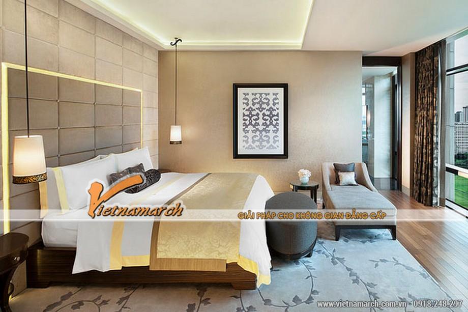 Mẫu trần thạch cao cho phòng ngủ theo phong cách hiện đại.