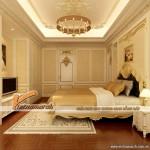 Tổng hợp mẫu thiết kế trần thạch cao cổ điển phòng ngủ nhà anh Hùng- Cầu Giấy- Hà Nội.