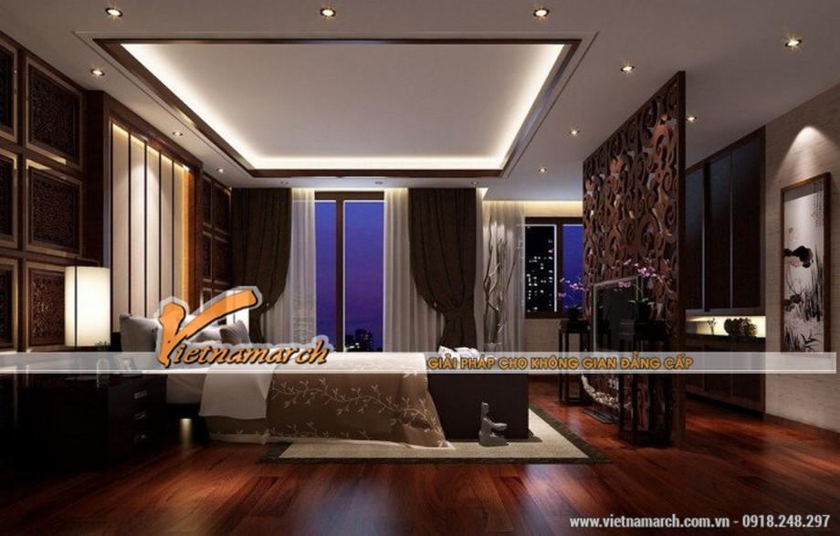 Thiết kế mẫu trần thạch cao phong cách cổ điển trong căn hộ Times City - Park Hill nhà bác Bình - 04