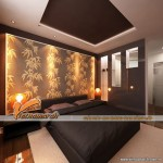 Chiêm ngưỡng mẫu trần thạch cao căn hộ chung cư D'. Le Roi Soleil Quảng An nhà anh Tú