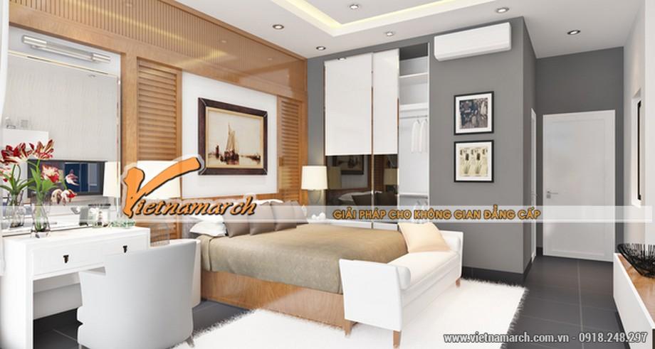 Thi công trần thạch cao phòng ngủ nhà anh Phong
