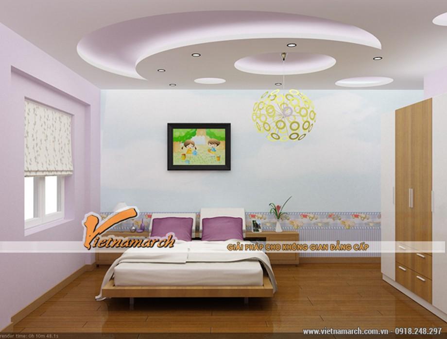 5 ý tưởng thiết kế trần thạch cao phòng ngủ cho người thích sự lãng mạn.