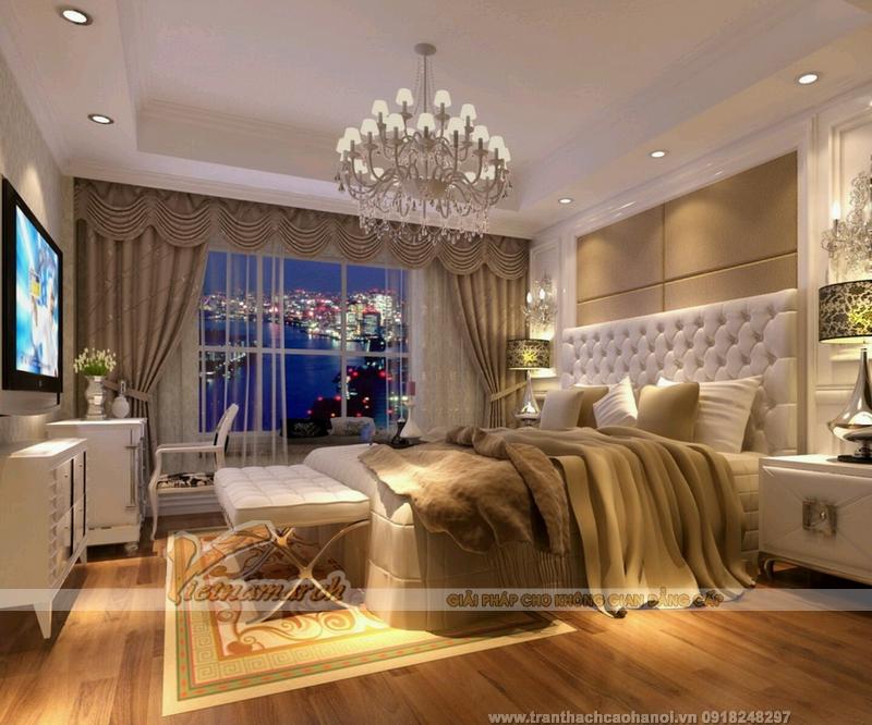 Tư vấn thiết kế mẫu trần thạch cao đẹp cho phòng ngủ của vợ chồng mới cưới