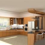 Tủ bếp hiện đại dành cho những gian bếp nhỏ tại WaterFront City