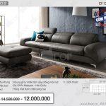 Mẫu ghế sofa da văng với thiết kế cách tân độc đáo – Mã: DV102