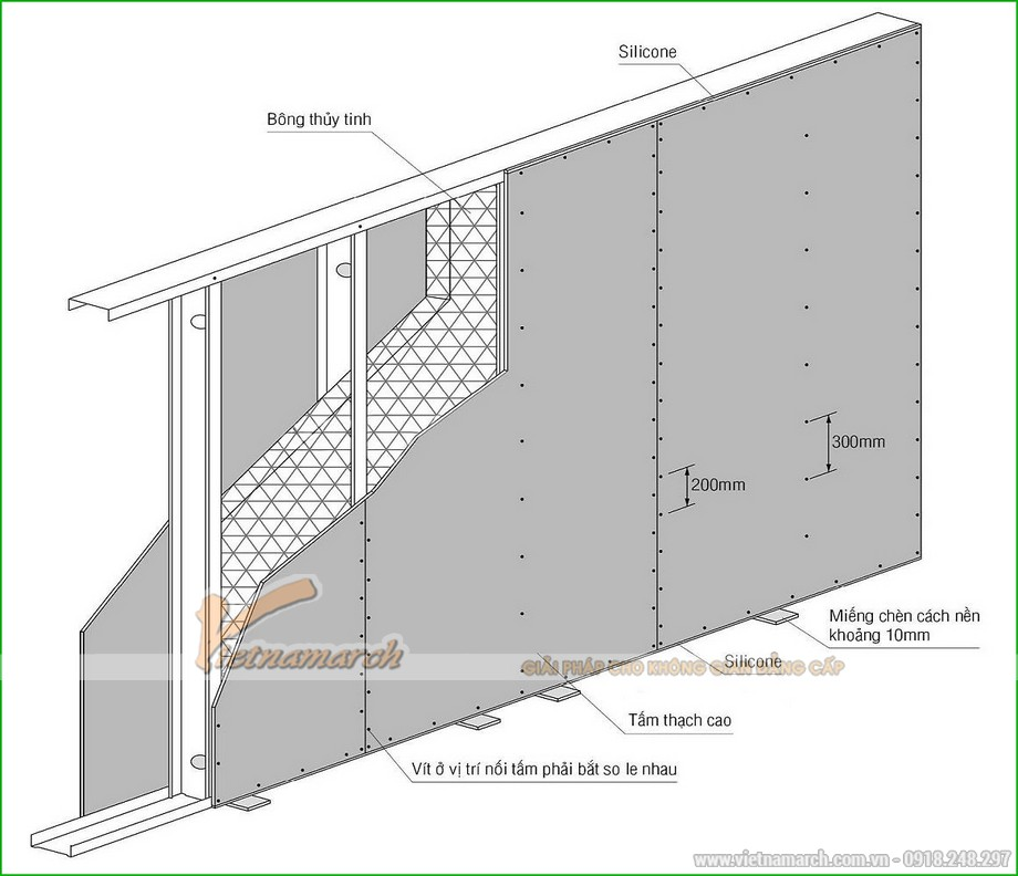 Khung vách ngăn V wall 125-127-03
