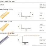 Khung xương vách ngăn thạch cao V wall 100-102