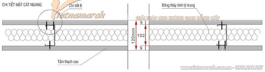 Khung vách ngăn V wall 100-102-02