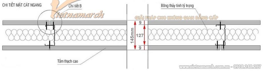 Khung vách ngăn V wall 125-127-02