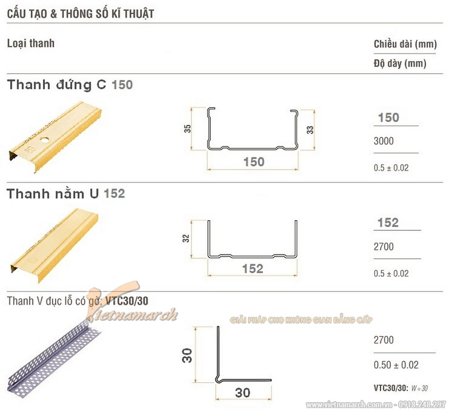 Khung vách ngăn V wall 150-152-01