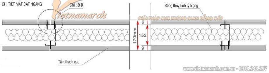 Khung vách ngăn V wall 150-152-02