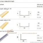 Khung xương vách ngăn thạch cao V wall 90-92