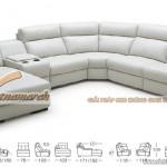 Mẫu ghế sofa da góc cỡ lớn chất liệu da Jess – Mã: SDG-052
