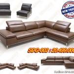Mẫu ghế sofa da chữ L sang trọng cho chung cư cao cấp – Mã: SDG-002