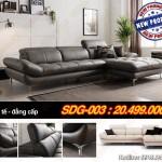 Mẫu ghế sofa da chữ L kiểu dáng Hàn Quốc sang trọng – Mã: SDG-003