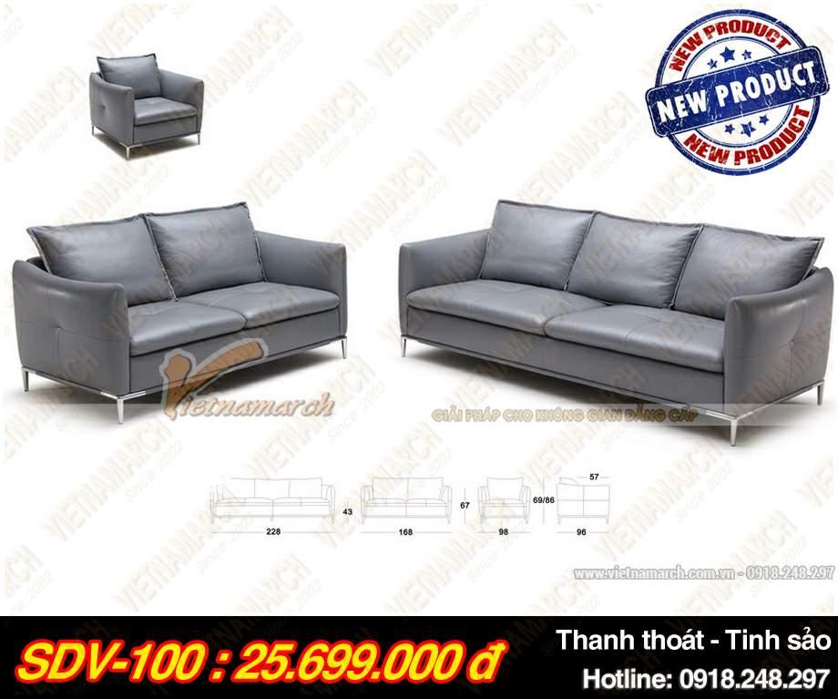 Mau ghe sofa da vang SDV-100
