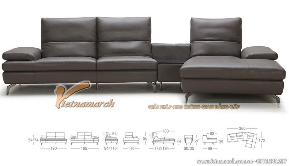 Mẫu ghế sofa góc chất liệu da tổng hợp - 01