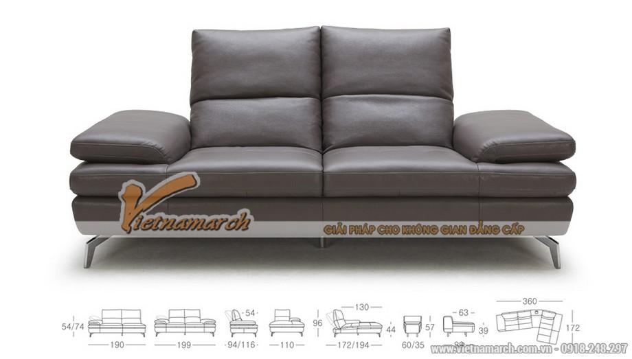 Mẫu ghế sofa góc chất liệu da tổng hợp - 03