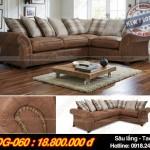 Mẫu ghế sofa góc chất liệu da công nghiệp cao cấp – Mã: SDG-060