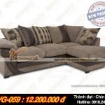 Mẫu ghế sofa góc kết hợp bọc da và vải mới lạ – Mã số: SVG-059