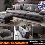 Mẫu ghế sofa văng chất liệu da thiết kế năng động, thời thượng – Mã: SDV-006