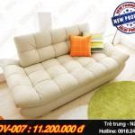 Mẫu ghế sofa văng chất liệu da, trẻ trung, nữ tính – Mã: SDV-007