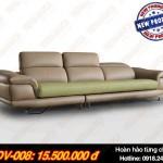 Mẫu ghế sofa da văng hoàn hảo đến từng chi tiết – Mã: SDV-008
