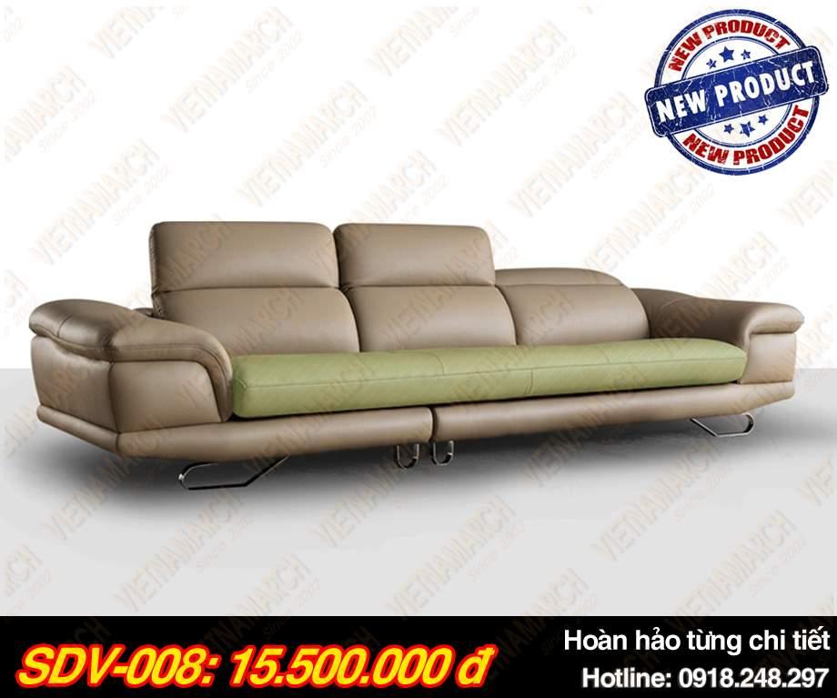 Mẫu ghế sofa da văng Mã: SDV-008 Hoàn hảo đến từng chi tiết