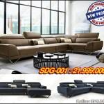 Mẫu Sofa góc đẹp chất liệu da cao cấp cho chung cư – Mã: SDG-001