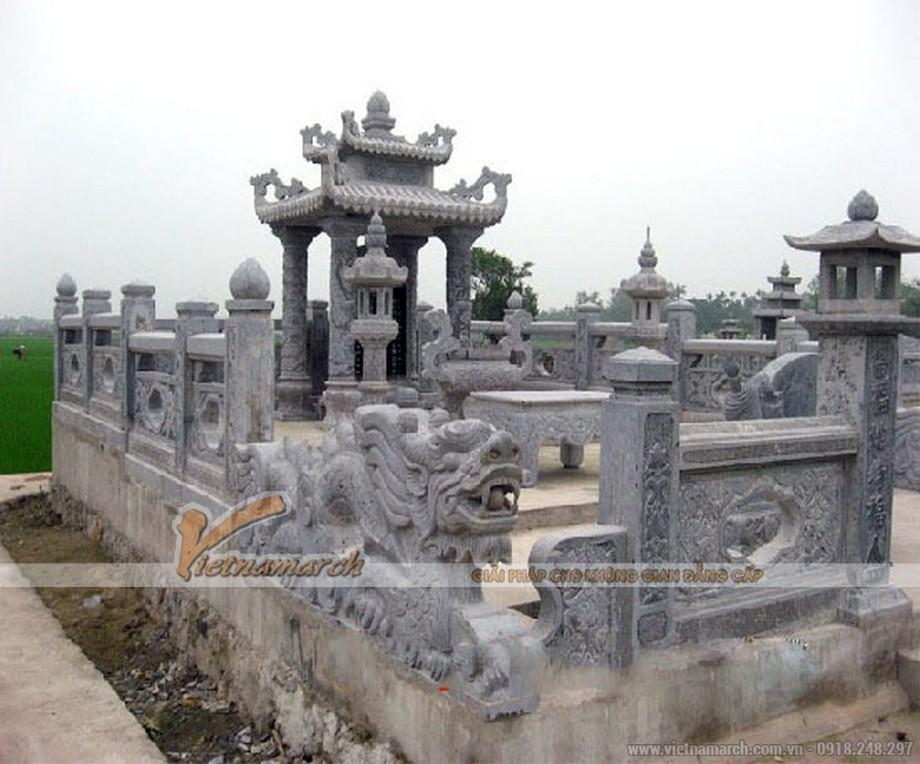 Tổng quan lăng mộ khuôn viên 2 phần mộ tại Bắc Ninh
