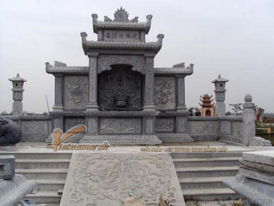 Phương án thiết kế lăng mộ khuôn viên 2 phần mộ tại Bắc Ninh