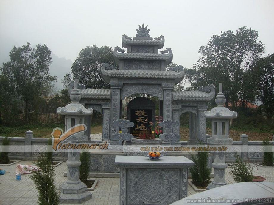 Tổng quan lăng mộ đẹp khuôn viên 2 phần mộ tại Quảng Ninh