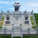 Thiết kế mộ đá ở Quảng Ninh bằng đá xanh nguyên khối