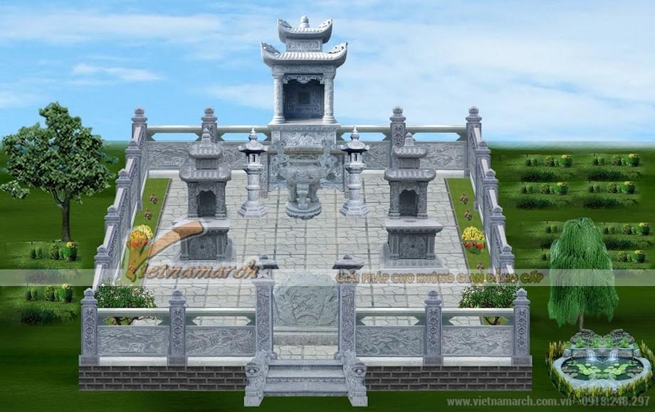Lăng mộ khuôn viên 2 phần mộ tại Quảng Ninh