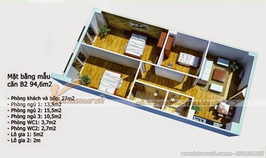 Hiện trạng căn hộ B2 chung cư Đông Đô