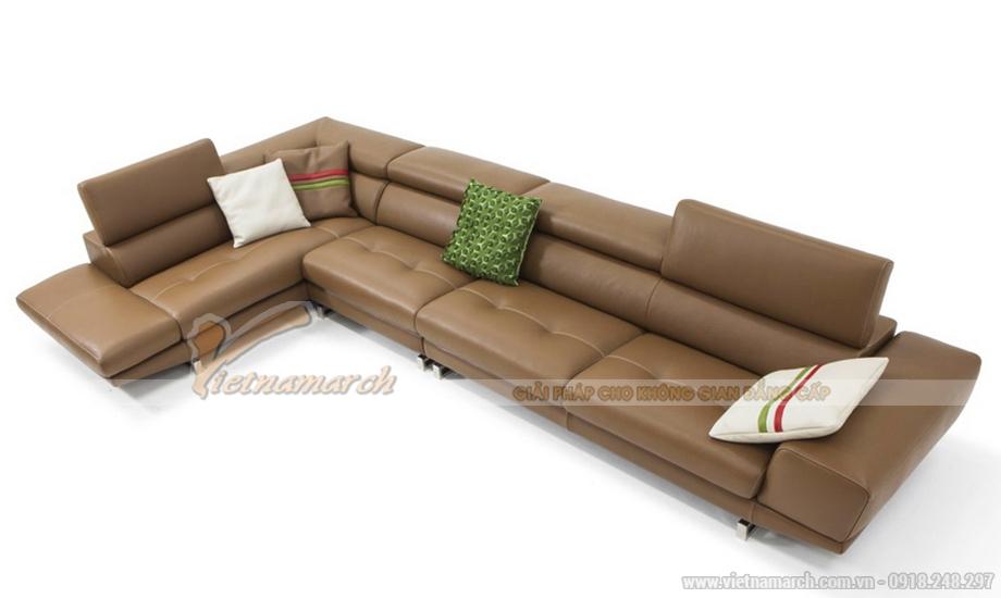 Sofa da cao cấp Malaysia cho nhà phố hiện đại