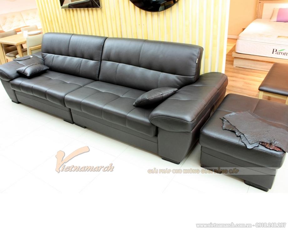 Bộ sofa da văng SDV-010 thiết kế đơn giản, khỏe khoắn
