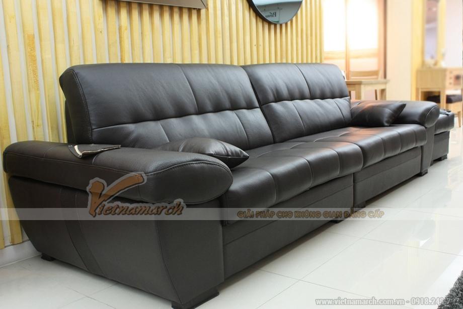 Sofa góc bọc da cao cấp Indonesia dài 2,8m cho những phòng khách rộng