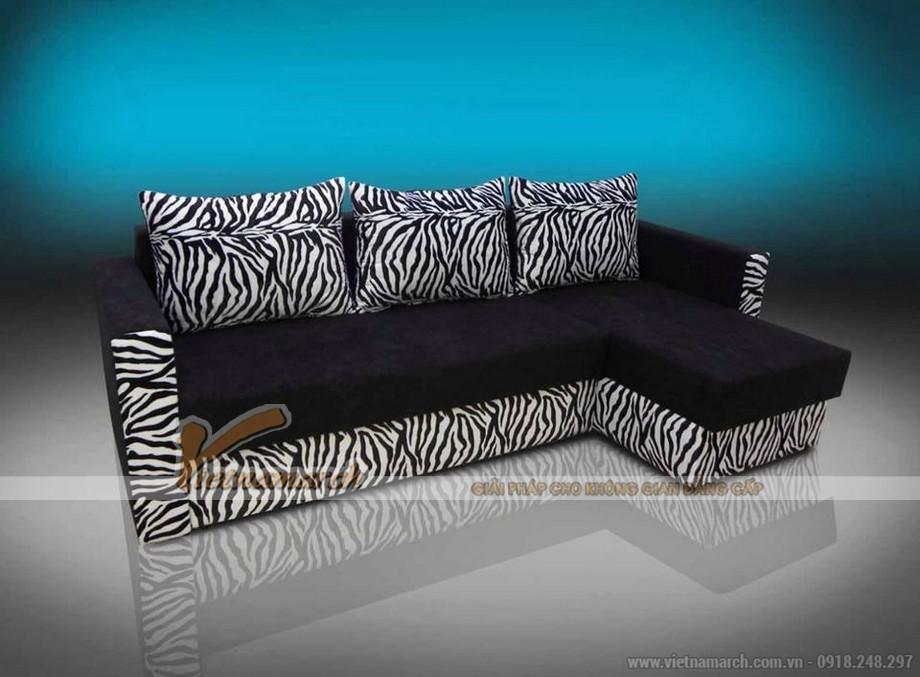 Mẫu ghế sofa bed vải nỉ đen tuyền nhiều khối linh hoạt lắp đặt-06