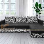 Mẫu ghế sofa bed vải nỉ góc đen tuyền nhiều khối linh hoạt lắp đặt – Mã: SVG-063