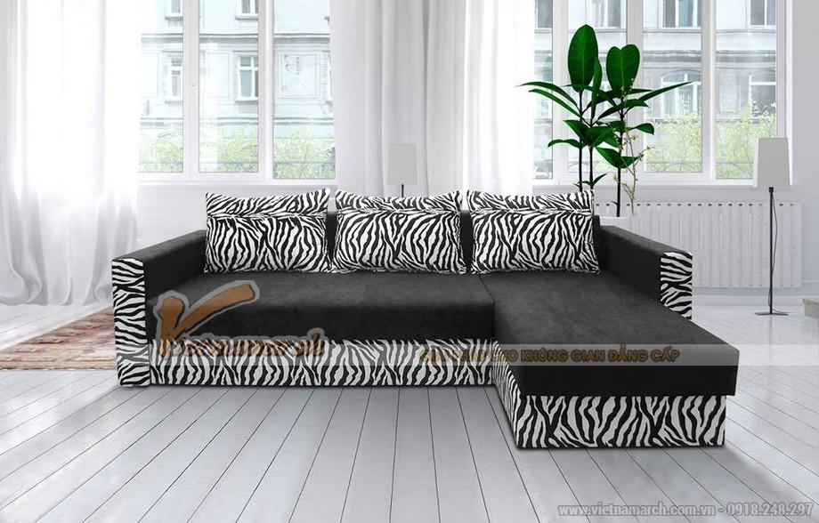 Mẫu ghế sofa bed vải nỉ đen tuyền nhiều khối linh hoạt lắp đặt-01