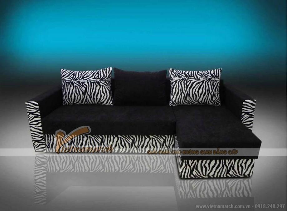 Mẫu ghế sofa bed vải nỉ đen tuyền nhiều khối linh hoạt lắp đặt-05