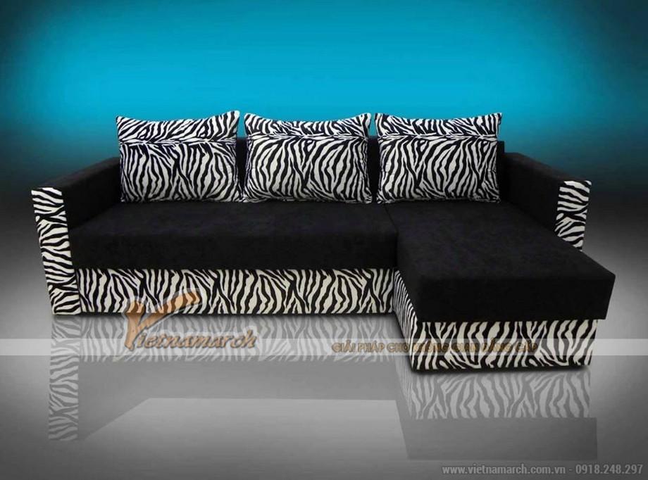 Mẫu ghế sofa bed vải nỉ đen tuyền nhiều khối linh hoạt lắp đặt-02