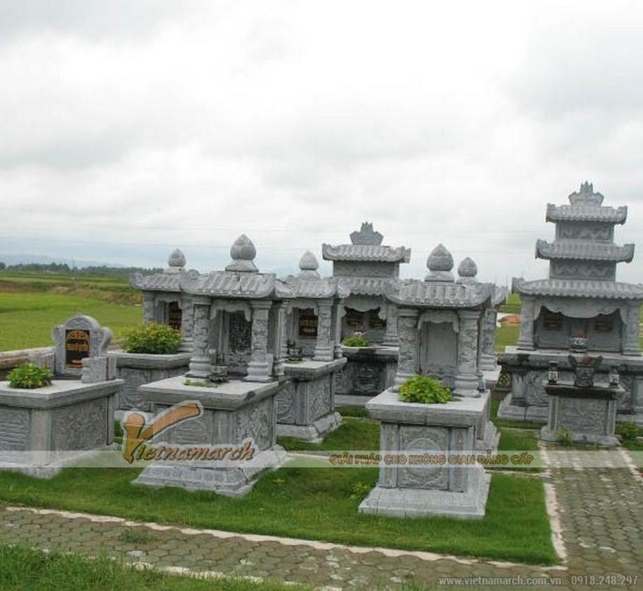 Hoàn thiện thi công lăng mộ bằng đá cho Phạm gia tại Thái Bình