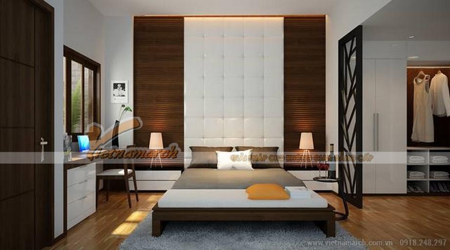 Thiết kế nhà ống đẹp 3 tầng tại Bắc Ninh - thiết kế phòng ngủ