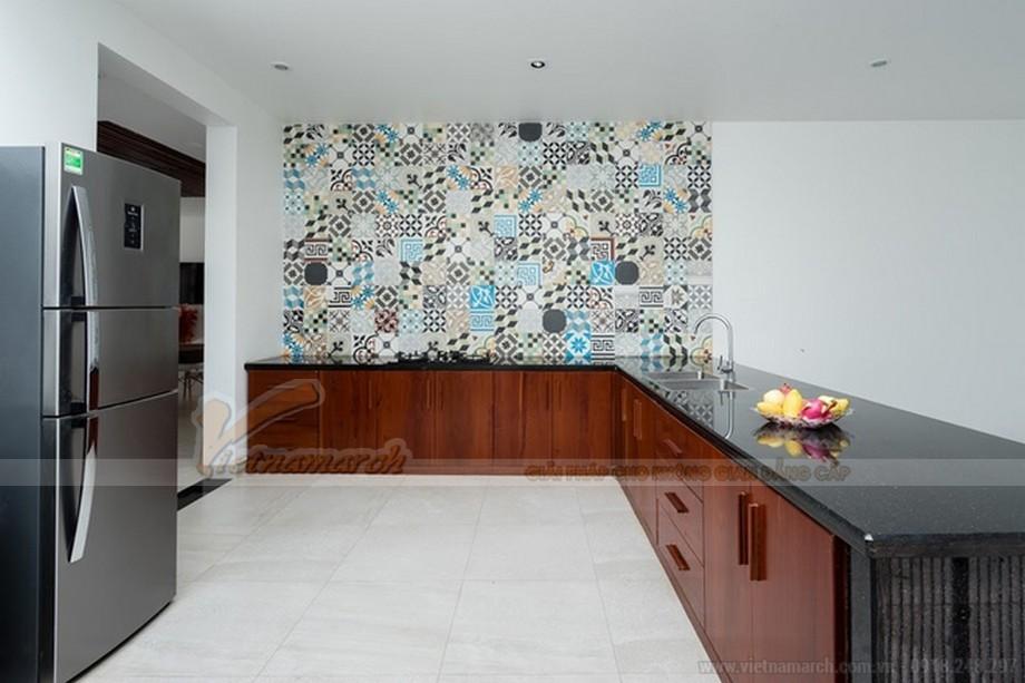 Phòng bếp đơn giản, hạn chế vật dụng
