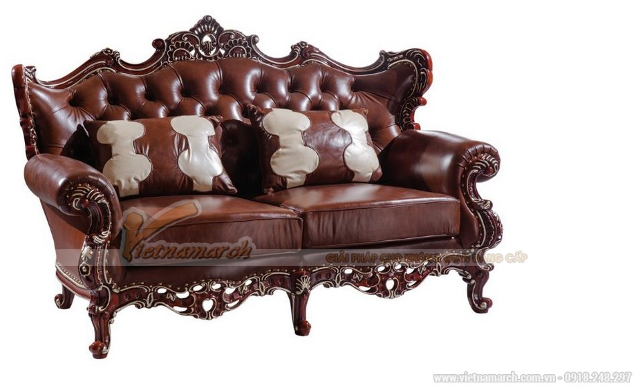 Ghế đôi - Bộ ghế sofa cổ điển SCD001