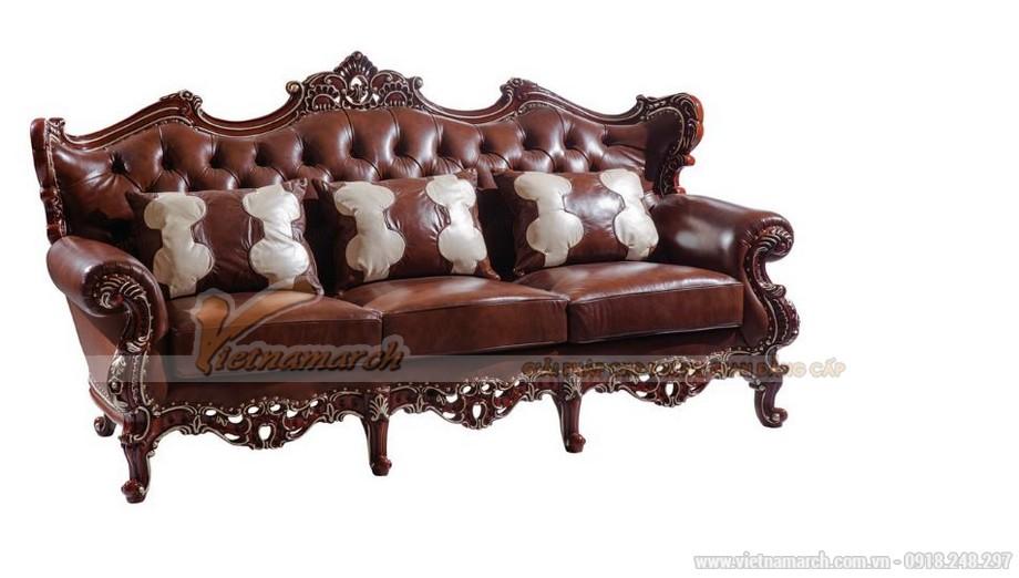Ghế 3 chỗ ngồi - Bộ ghế sofa cổ điển SCD001